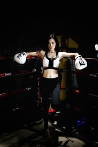 Girl in boxing gear who wants to get fit