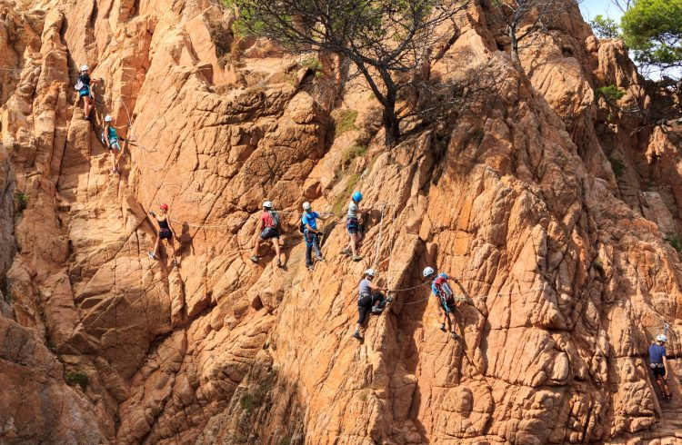 Via Verrata is the scaling of mountains and cliff sides as part of an organised outdoor pursuits course